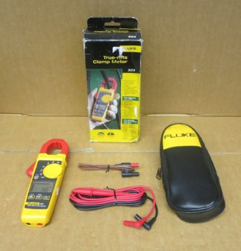 Fluke 325 400A 600V AC/DC True RMS Clamp Meter CAT IV Voltage Amp Multimeter